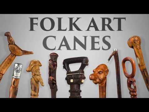 Folk Art Canes from M.S. Rau Antiques