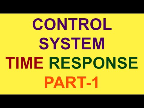 TIME RESPONSE | CONTROL SYSTEM | PART-1 | BSNL JE (TTA) | JTO | GATE