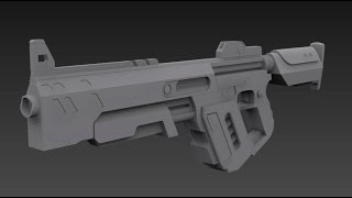 Speed modeling Sci-fi weapon
