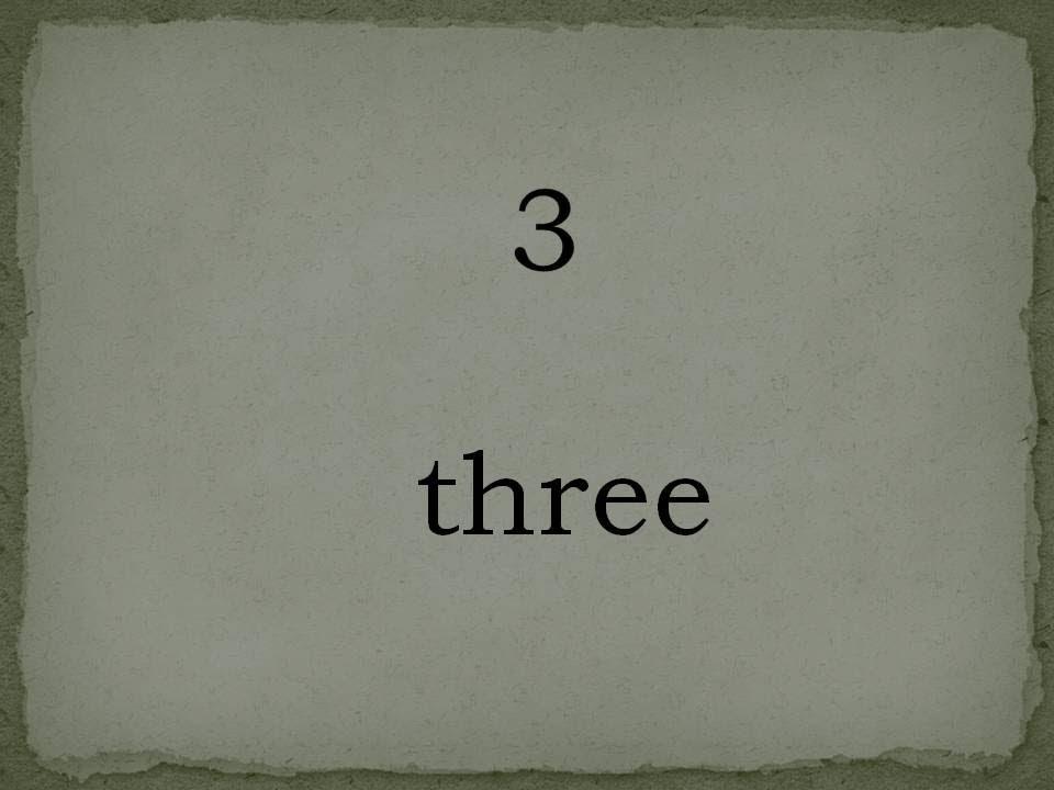Souvent Les nombres en anglais 0-20 - YouTube MF18