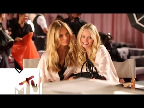 Victoria's Secret Fashion Show 2014 BACKSTAGE: Adriana Lima & Lindsay Ellingson | MTV Style