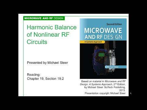 Harmonic Balance Analysis of Nonlinear RF Circuits
