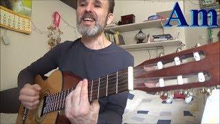 Чубчик, народная песня, на гитаре.