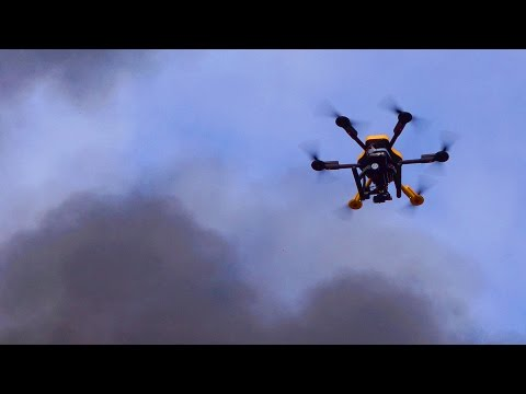 Drone with FLIR Records House Burning Down
