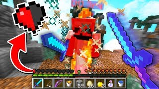 HALF A HEART CLUTCH TWICE IN ONE GAME! (Minecraft Skywars)