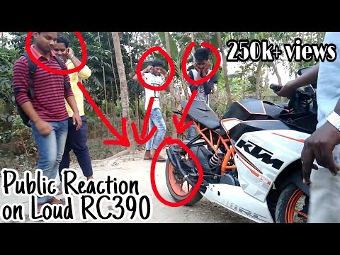 Funny Reaction on Loud KTM RC 390 Akrapovic Exhaust | Must watch
