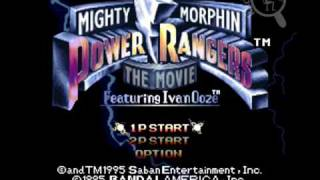 [Intro][SNES] Mighty Morphin Power Rangers - The Movie