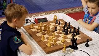 CM  Pingin  vs  Cherniaiev (8 YO) World Cadet Blitz up 11 Round 7