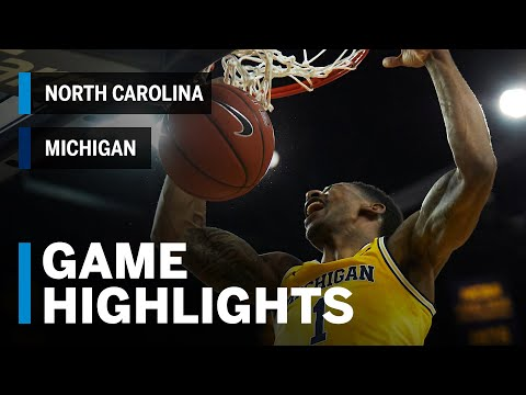 Highlights: North Carolina at Michigan | Big Ten Basketball | ACC/Big Ten Challenge