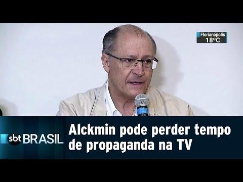Geraldo Alckmin pode perder tempo de propaganda gratuita na TV | SBT Brasil (18/08/18)