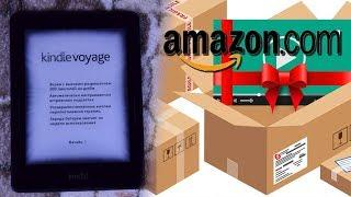 Доставка посылки с Amazon. Распаковка Kindle Voyage