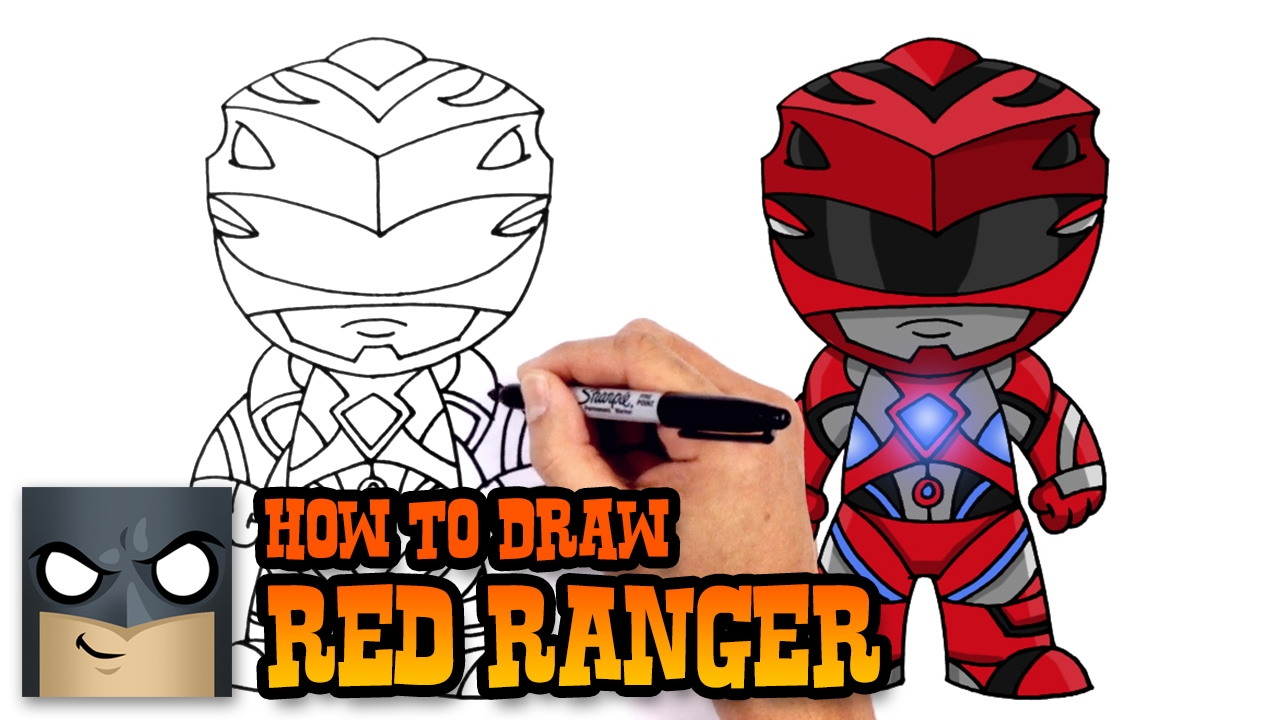 How to Draw Red Ranger  Power Rangers  YouTube