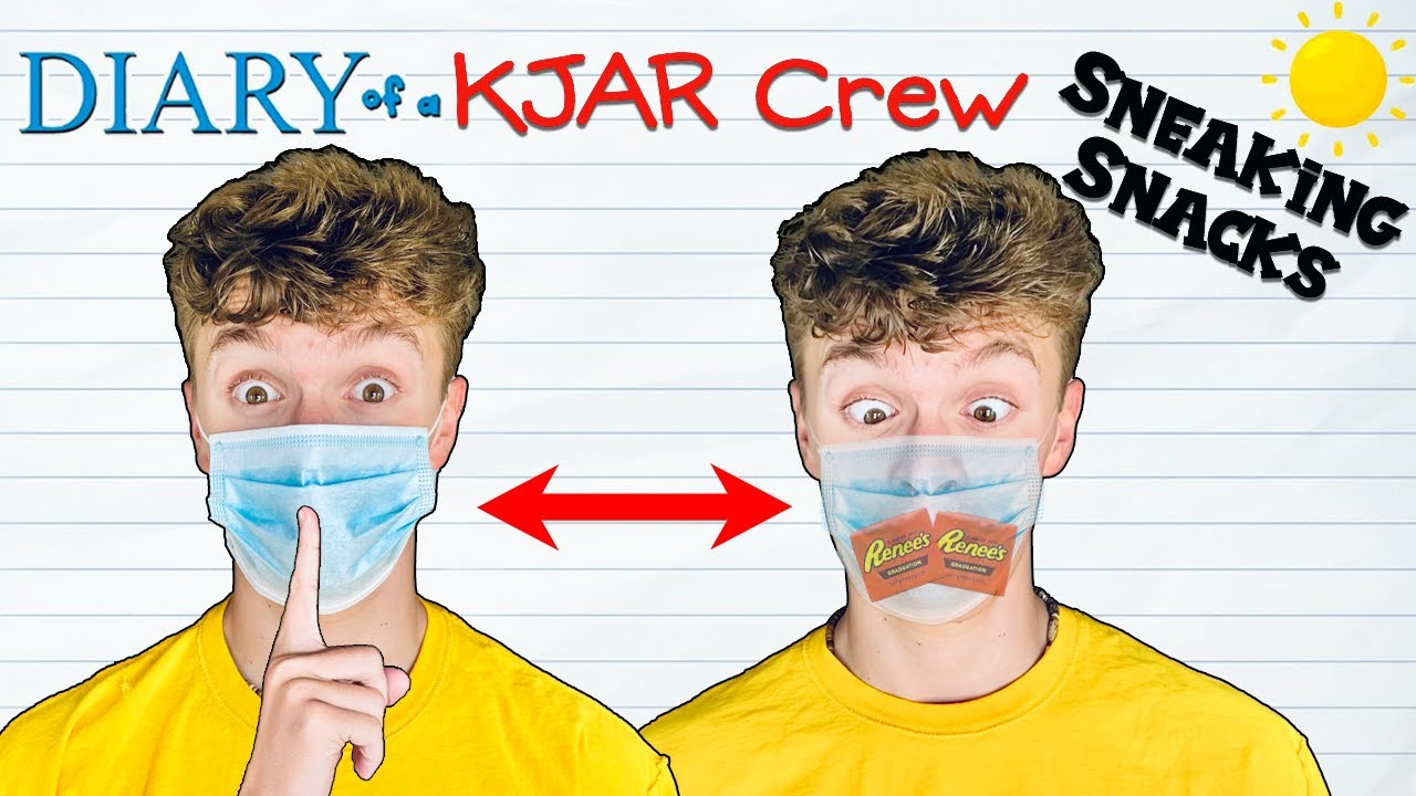 CAUGHT Sneaking FOOD into FUNNY Places!! HACKS to SNEAK Candy and Snacks!! Diary of a KJAR Crew!!