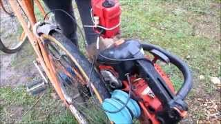 Vélo a moteur fait maison-LUBICOS