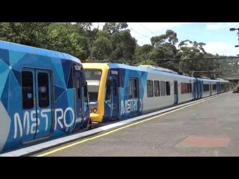 Trains at Upper Ferntree Gully - Metro Trains