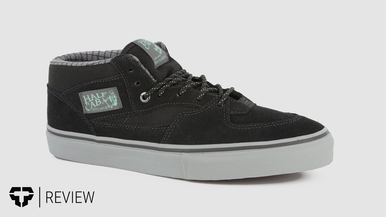 aeda30a0fb Vans Half Cab Pro Skate Shoes - Tactics.com - YouTube