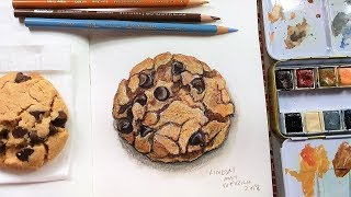 Peanut Butter Chocolate Chip Cookie Painting Sketchbook Sunday