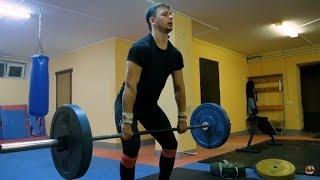 Тренировка по тяжелой атлетике. Урок #1 Взятие штанги на грудь