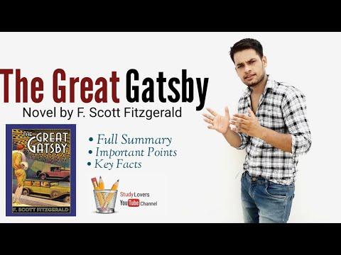 The Great Gatsby : Novel By F. Scott Fitzgerald In Hindi Summary Explanation