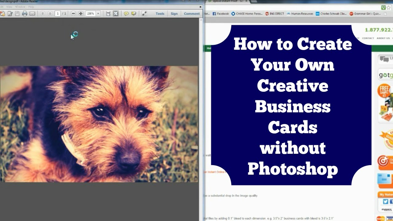 How to create a business card without photoshop diy youtube reheart Image collections
