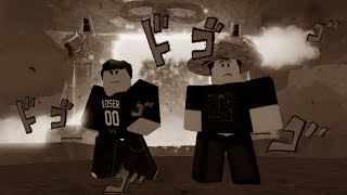 jackie and guy jump some edgy roblox weebs