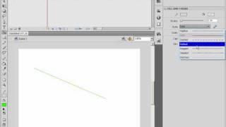 Настройка линий обводки и заливки объектов в Adobe Flash(9/46)