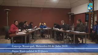 Concejo Municipal Miércoles 04 Julio 2018 - El Quisco