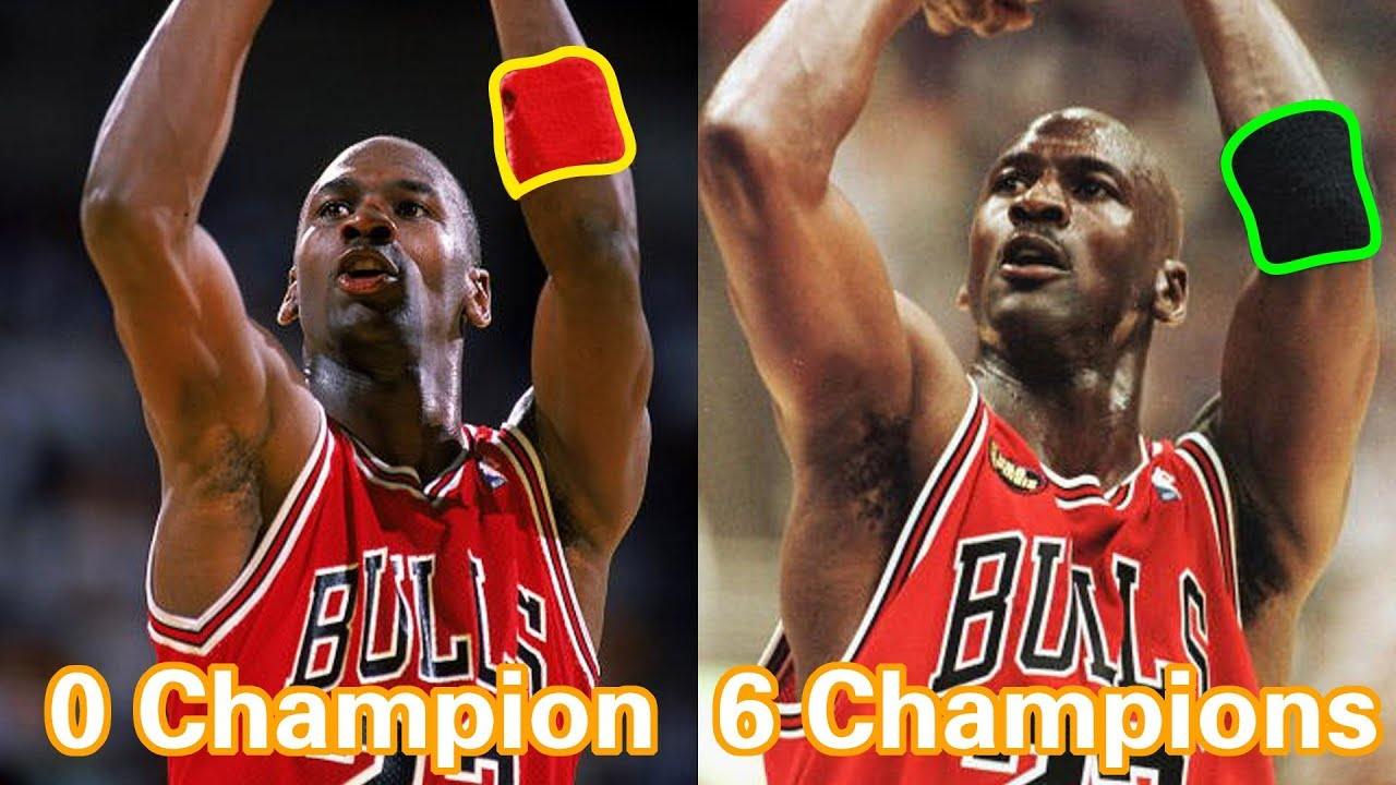 Orador caldera Discutir  Michael Jordan 6 Champions Secret With Wristband Position - YouTube