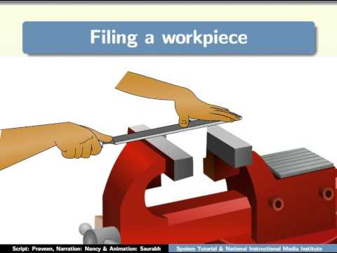 Filing a workpiece - English