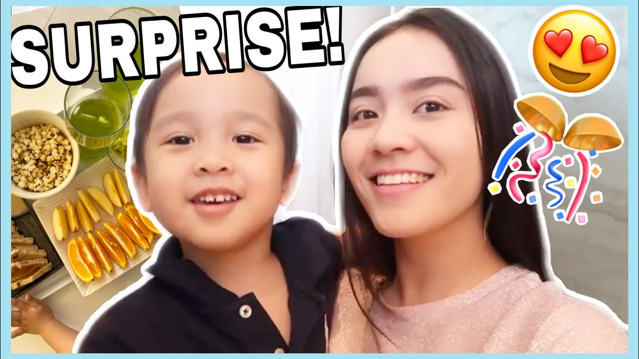 A LITTLE SURPRISE FOR DADA AND MIMI's MAKEUP ROUTINE