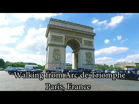 Walking from Arc de Triomphe Paris, France