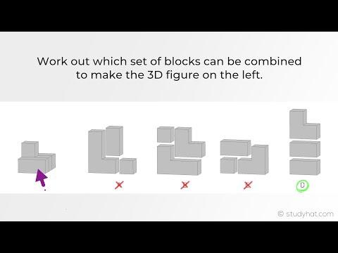 Eleven Plus Non Verbal Reasoning - 3D Building Blocks