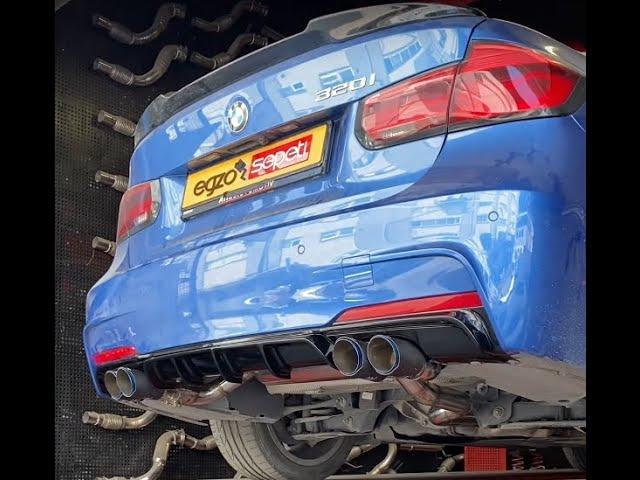 BMW F30 KUMANDALI VAREX EGZOZ SESİ VE AKRAPOVİC EGZOZ UCU