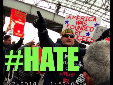 Hate Preachers Crash Trumps Immigration Crack  Down Protest #1