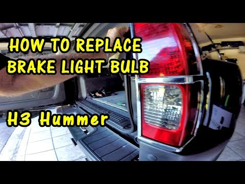 HOW TO REPLACE BRAKE LIGHT BULB on H3 HUMMER | Long Life Miniature Bulb