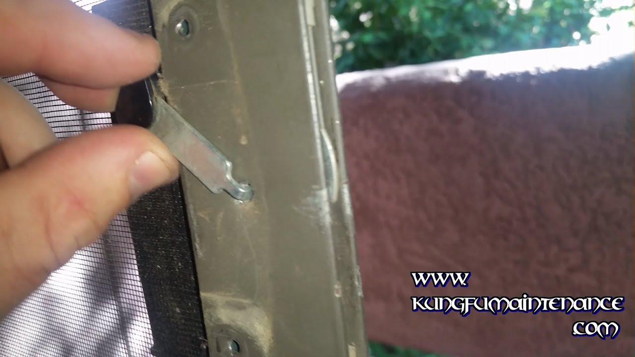 Replacing Broken Patio Slider Screen Door Metal Latch Arm