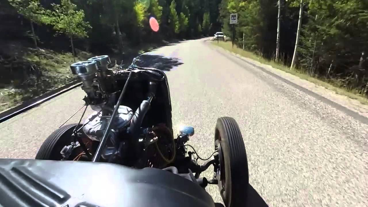 Ed & his supercharged '34 Ford - 2014 Hot Rod Hill Climb by Thomas Staab