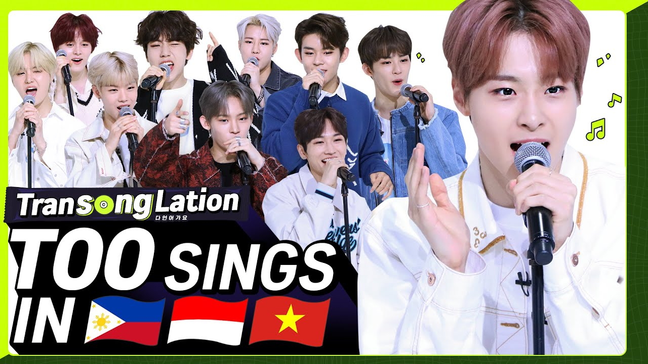 K-POP STARS sing in THREE Languages?| TAG/INA/VIET | TOO | TRANSONGLATION