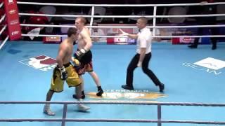 Нурдаулет Жарманов нокаутировал боксера из Baku Fires