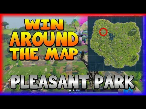WIN AROUND THE MAP 'PLEASANT PARK' (Fortnite Battle Royale)