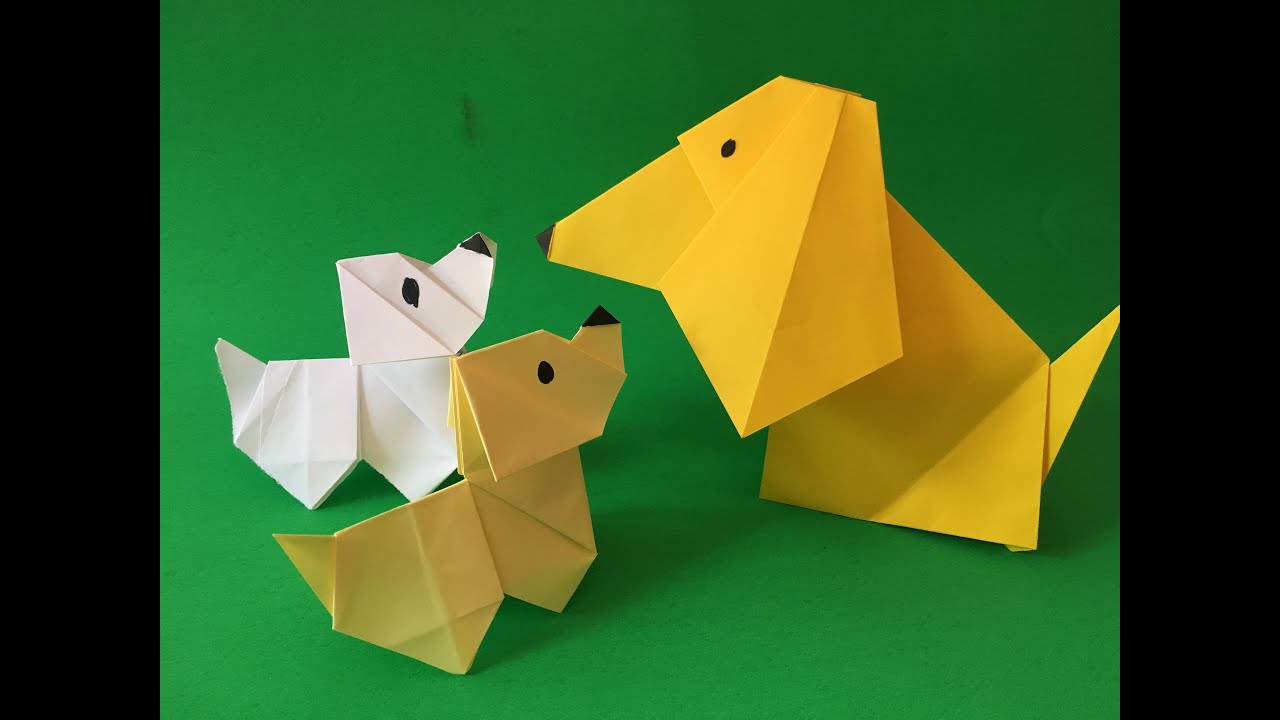 Origami dog face how to origami - How To Make A Origami Paper Dog With Moving Head Folding