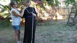 How to tie/bind ancient Greek/Roman costume