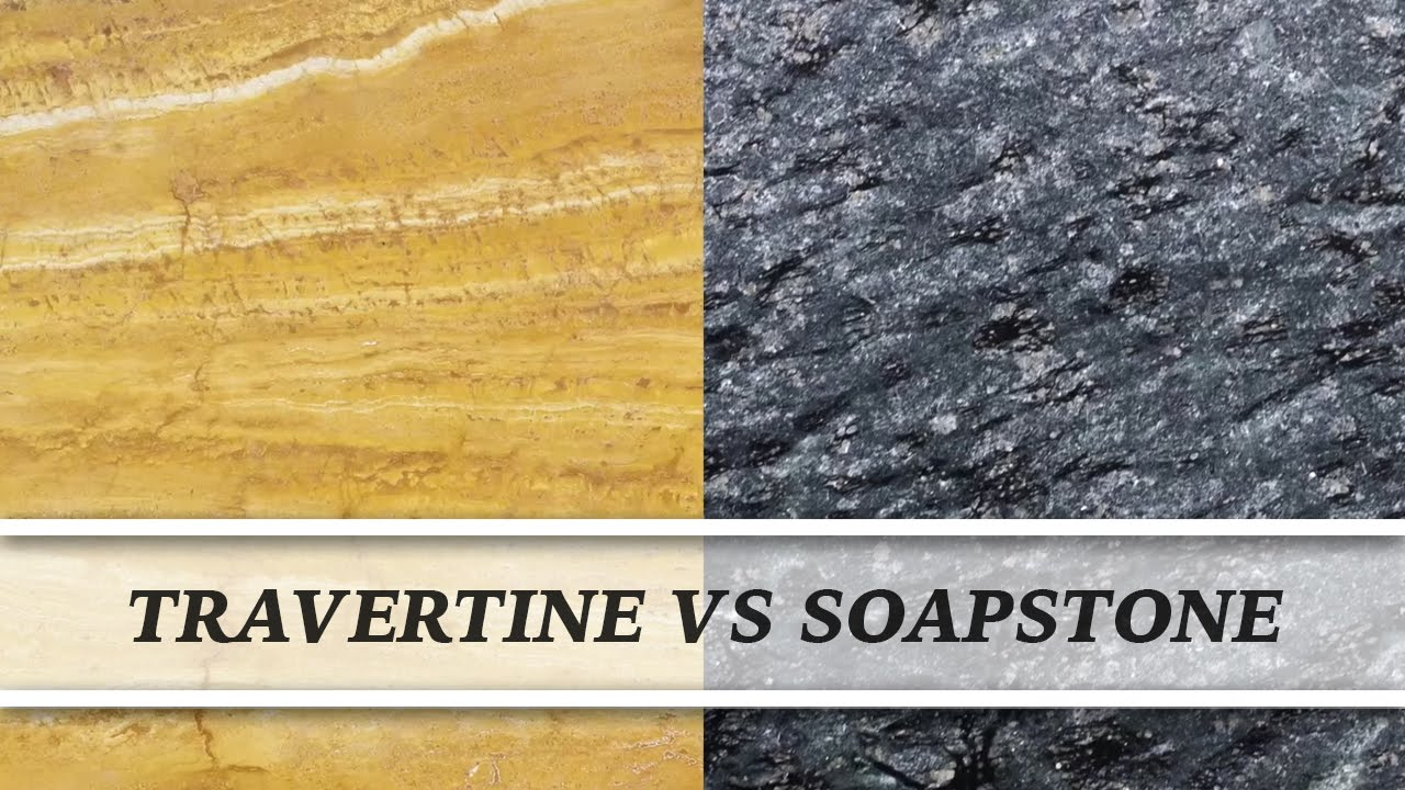 Travertine Vs Soapstone | Countertop Comparison
