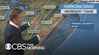 Hurricane Isaias churns toward U.S. East Coast