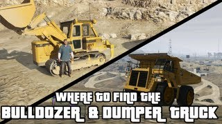 GTA 5 - Bulldozer & Dumper Truck Locations