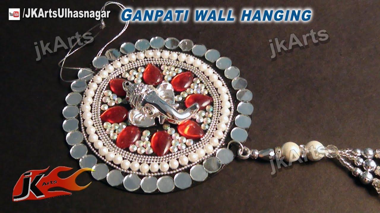 Diy how to make ganpati car and wall hanging out of waste for Wall hanging out of waste