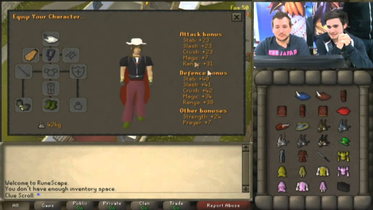 runescape how to turn on cosmetics