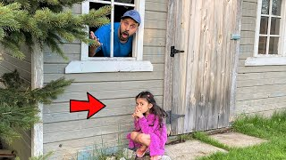 Sally and DAD Play Hide and Seek! family fun