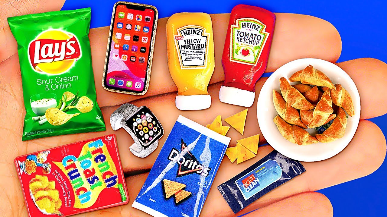 12 COOL MINIATURE CRAFTS THAT LOOK LIKE REAL ~ Mini Iphone, Apple Watch, Lays and REALISTIC FOOD