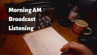 Morning AM Broadcast Radio Listening (w/ Tecsun S-8800)